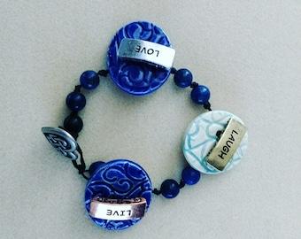 Foxglove Button Bracelet