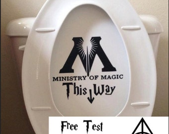 Ministry Of Magic Bathroom Toilet Decal Sticker - Funny Harry Potter Parody Wall decal