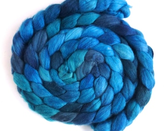 Quenched, Merino/ Silk Roving (Top) - Handpainted Spinning or Felting Fiber