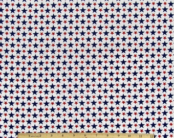 Star Fabric 4th of July From Springs Creative 100% Cotton