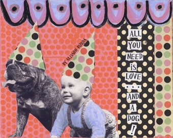 Love and A Dog Greeting Card