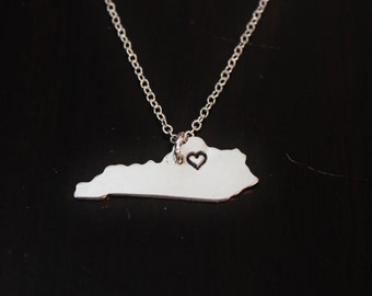 Kentucky State Necklace, City State Necklace, KY Necklace, State Jewelry