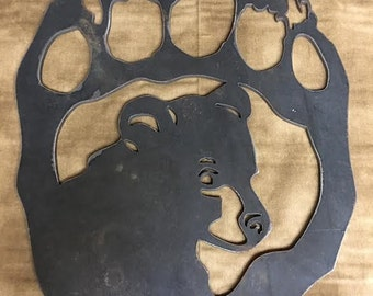 Metal Art-Bear Claw-Out Door-Home and Living Decor-Spirituality-Sign Shops