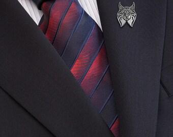 Lynx brooch - sterling silver