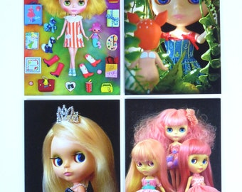 Blythe Doll Photos Note Card 4-Pack
