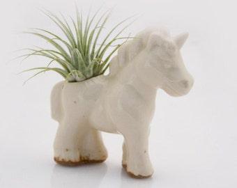 Air plant holder, Mini planter, ceramic unicorn, air plant pod, Mini unicorn, Air plant planter, office gift, valentines day , desk decor