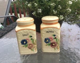 Vintage Japanese floral salt and pepper shakers