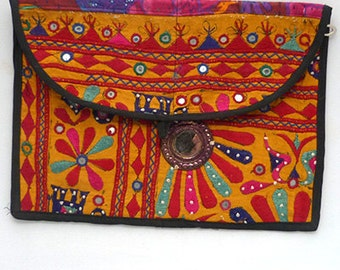 Vintage Boho Bag Hippie Indian Banjara Style Gypsy Clutch Purse Shoulder Bag