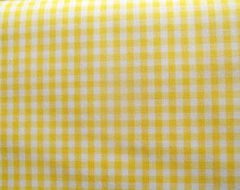 Yellow Gingham Check Fabric