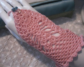Salmon-colored cotton ring glove, cotton-free finger gloves, bracelet gloves