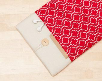 Galaxy Tab 4 10.1 sleeve cover, Galaxy Note 10.1 case / Galaxy Tab 4 8.0 / Galaxy Tab 3 7.0 / Galaxy Tab S sleeve  - Red