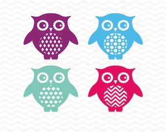 Owl svg files,  SVG, DXF, EPS, Woodland svg, Vinyl Cutting Files for use with Silhouette Studio and Cricut Design Space.