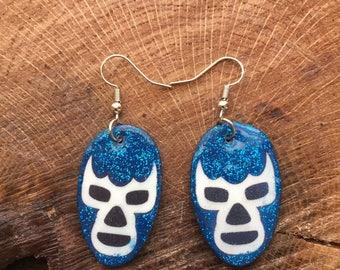 lucha libre earrings Blue Demon