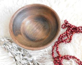 Lathe Turned Wooden Bowl