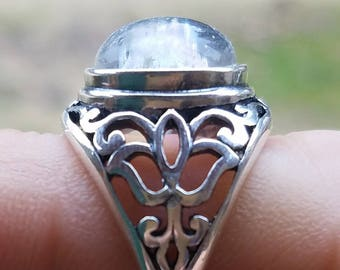 Ashes Infused Glass NEW Cremation Jewelry Filigree Lotus Ring Sterling Silver 7 8 Pet Memorial