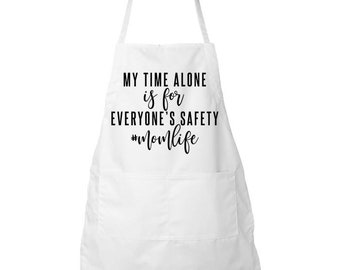 Apron Mothers Day Gift Funny Kitchen Baking Mom Life Cooking Aprons Fun