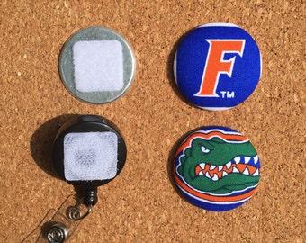 Florida University Button Badge Reel Set