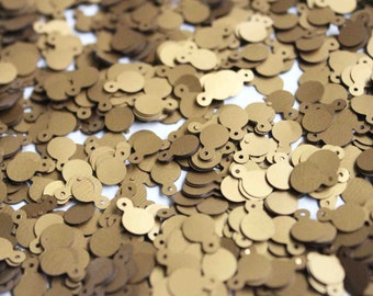 100 pcs metallic golden round sequins/KBRS096