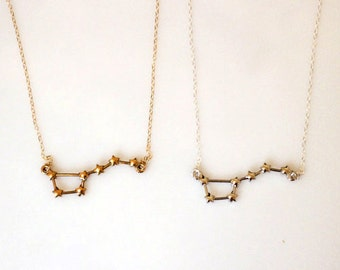 Big Dipper Constellation Necklace in Gold or Silver, Ursa Major Necklace, Constellation Necklace, Science Jewelry, Astronomy Necklace