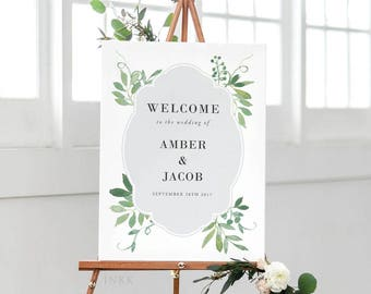 Printable Wedding Signs Welcome - Welcome Sign - Wedding Signage - Welcome Sign Wedding - Welcome Sign for Wedding PDF - (Item code: P025)