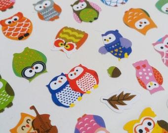 Colourful Owl Sticker Sheet