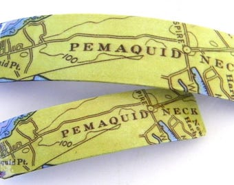 Pemaquid Neck, Bristol, Maine  French Barrette - Lincoln County - Pemaquid Point Clip - Mother Daughter gift - Mainemade - with Resin Coat
