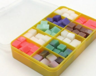 Cloth Wipe Bit Wipe Solution Cubes sampler (yellow box) - approx 120 cubes! Phthlate and paraben-free - Choose your own scents