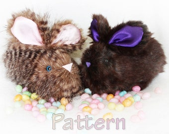Bunny Pattern Stuffed rabbit pattern bunny pattern sewing pattern, bunny pattern, rabbit pattern, rabbit stuffie,easter bunny, child toy