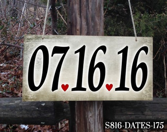 DATE Sign, Wedding Sign, Hanging Sign, Wedding Date Sign, Personalized Wedding Sign, Personalized Sign, Love Sign, Wedding Date, Sign
