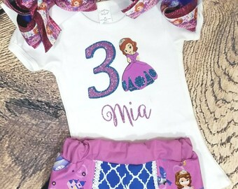 Sofia the first outfit- sofia the first shirt- sofia the first shorts- coachella shorts- sofia shirt- sofia outfit-sofia the first bow-sofia