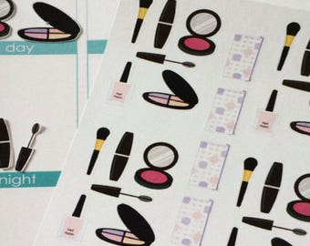 Planner Stickers Makeup and Makeup Bag Stickers Fits Erin Condren Life Planner and Other Planners