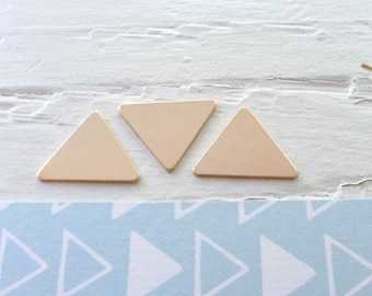 Gold Fill Triangle Stamping Blanks Geometric Bunting Triangles Triangular Blank for Jewelry (BHGF257)