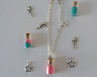 Fairy and star charms chain bracelet