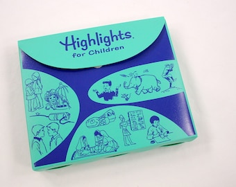 Vintage Highlights for Children Magazines with Case 1975 - 1978