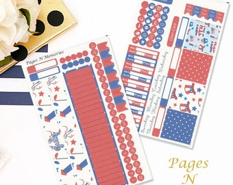 July Monthly View Planner Sticker Kit for Plum Paper Planners/ Functional Stickers/ Monthly Sticker Set