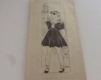 Vintage Anne Adams Mail Order Pattern 4515 Girls Dress and Bolero Size 10