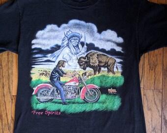 """Vintage Motorcycle Shirt """"Free Spirits"""""""