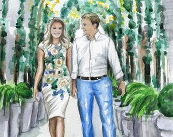 Wedding portrait, Custom illustration, Bespoke Wedding Portrait, Couple Portrait, Bridal Portrait, Anniversary gift
