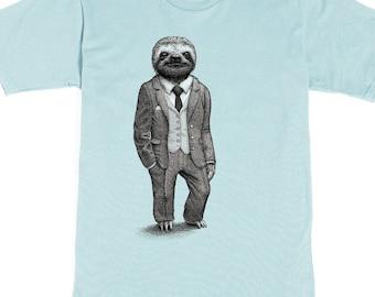 Sloth Shirt Mens Shirts Sloth T Shirt Birthday Gift Graphic Tee Funny Shirt Boyfriend Gift Brother Gift Stylish Sloth Mens Shirt