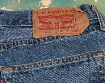 LEVI 501 JEANS Denim Waist:   inches 501X21