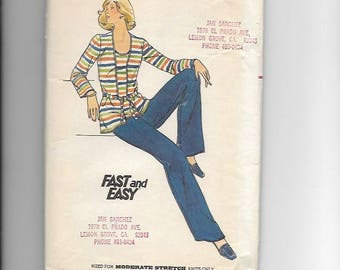 UNCUT Sewing Pattern Butterick 5236 for Top, Jacket and Pants, 1970s, Sz 16