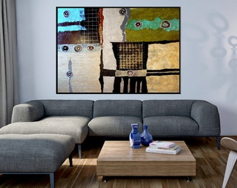 SALE  Price reduced Extra Large Mixed Media Abstract Painting