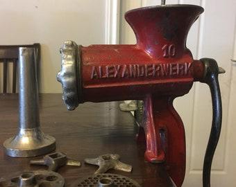 Vintage Alexanderwerk No 10 meat grinder cast iron
