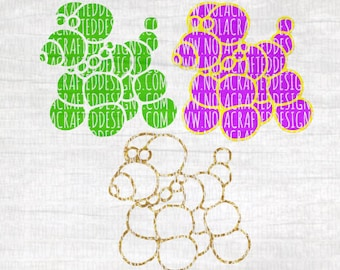 Mardi Gras Bead Dog Svg Cut File - Mardi Gras Svg Cut File - New Orleans Svg Cut File - Louisiana Svg Cut File