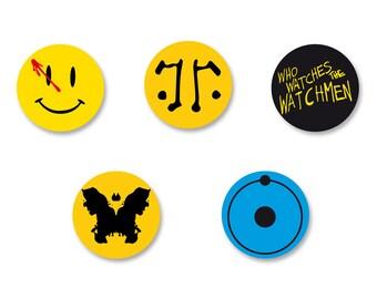 Lot Pins Ø25mm - o38mm Pinback Button Badge / Magnet o38mm Watchmen guardians