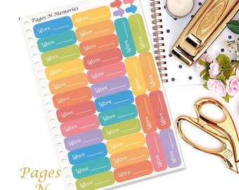 Work Schedule Planner Stickers/ Functional Stickers/ Erin Condren/ Inkwell Press/ Plum Paper/ Happy Planner and other planners  Item #039