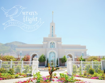 Mount Timpanogos Temple - Digital Download - Cheerful and Bright Fine Art Photography