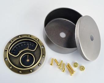 Steampunk Gauge Kit - Antique Brass - Industrial Gauge - Vintage Gauge - Steampunk Art - Steampunk Gears