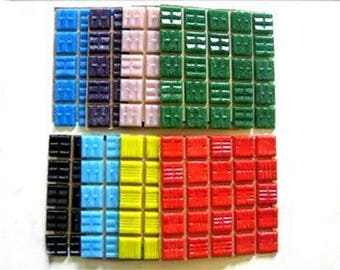 Mosaic Tiles Mixed 2cm x 2cm x 4mm thick. Deep Blend 150 Tile Mix