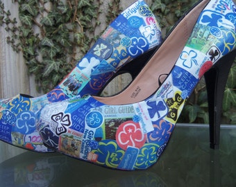 Girl guide decoupage shoes